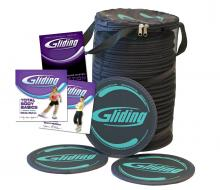 Gliding Discs - Grey - Club Pack 25 (for HARDWOOD floors)